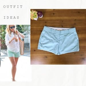 J Crew Broken In Chino Shorts in Soft Mint Size 8